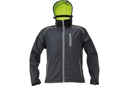 Obrázek z KNOXFIELD Pánská softshellová bunda antracit / žlutá