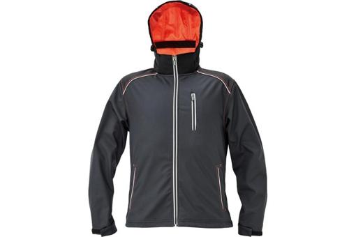 Obrázek z KNOXFIELD Pánská softshellová bunda antracit / oranžová