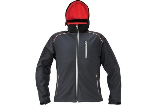 Obrázek z KNOXFIELD Pánská softshellová bunda antracit / červená