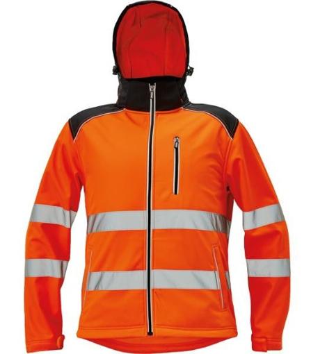 Obrázek z KNOXFIELD HI-VIS Pánská softshellová bunda oranžová