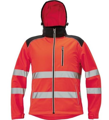 Obrázek z KNOXFIELD HI-VIS Pánská softshellová bunda červená