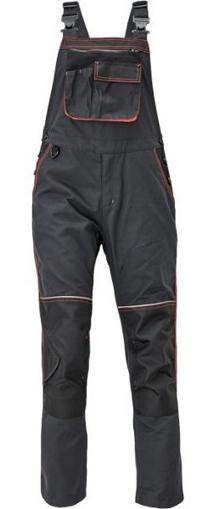 Obrázek z KNOXFIELD LADY Pracovní kalhoty s laclem - antracit / červená