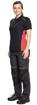 Obrázek z KNOXFIELD LADY Pracovní polokošile - antracit / červená