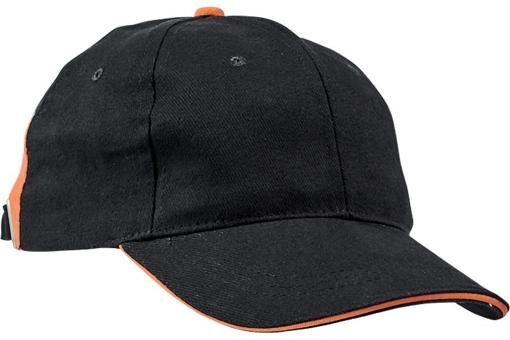 Obrázek z KNOXFIELD Kšiltovka černá / oranžová