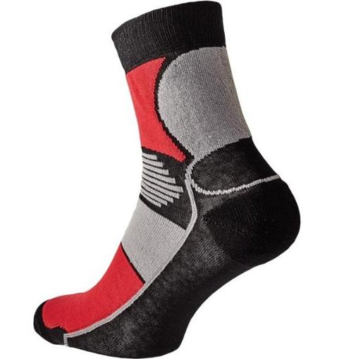 Obrázek z KNOXFIELD BASIC Ponožky černá / červená