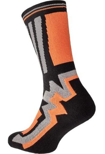 Obrázek z KNOXFIELD LONG Ponožky černá / oranžová