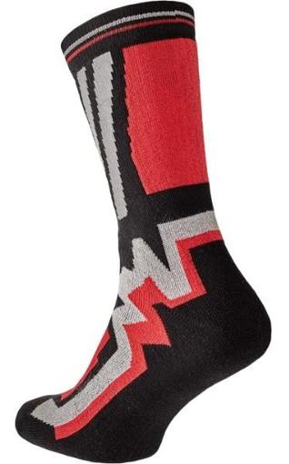 Obrázek z KNOXFIELD LONG Ponožky černá / červená