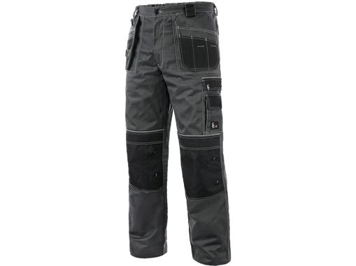 Obrázek z CXS ORION TEODOR PLUS Pracovní kalhoty do pasu šedo / černé