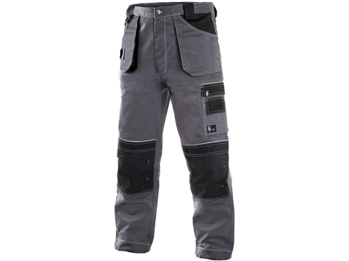 Obrázek z CXS ORION TEODOR Pracovní kalhoty do pasu šedo / černé - zimní prodloužené