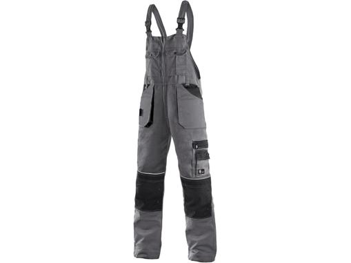 Obrázek z CXS ORION KRYŠTOF Pracovní kalhoty s laclem šedo / černé - zimní prodloužené