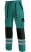 Obrázek z CXS LUXY BRIGHT Pracovní kalhoty do pasu zeleno / černé