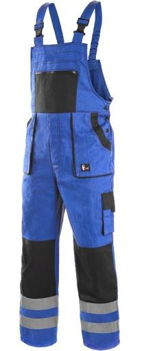 Obrázek z CXS LUXY BRIGHT Pracovní kalhoty s laclem modro / černé