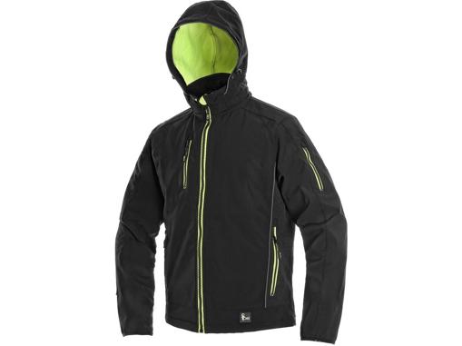 Obrázek z CXS DURHAM Pánská softshellová bunda černo / žlutá