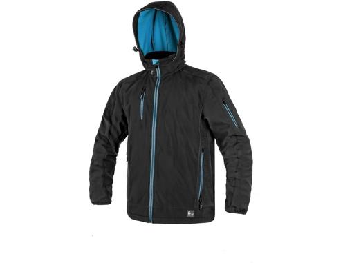 Obrázek z CXS DURHAM Pánská softshellová bunda černo / modrá
