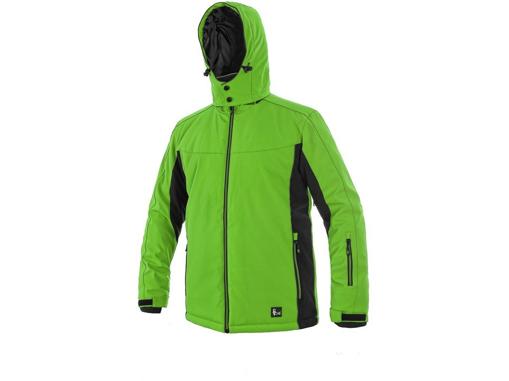 Obrázek z CXS VEGAS Pánská softshellová bunda zeleno / černá - zimní