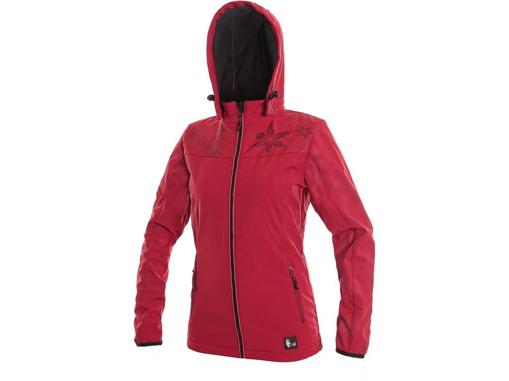 Obrázek z CXS PAGE Dámská softshellová bunda červená