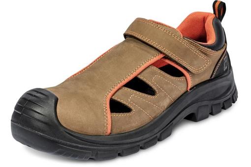 Obrázek z ČERVA DERRIL MF S1P SRC Pracovní sandále hnědé