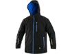 Obrázek z CXS KINGSTON Pánská zimní softshellová bunda černo / modrá