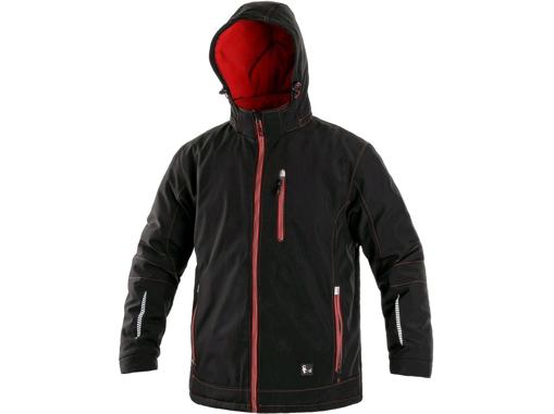 Obrázek z CXS KINGSTON Pánská zimní softshellová bunda černo / červená