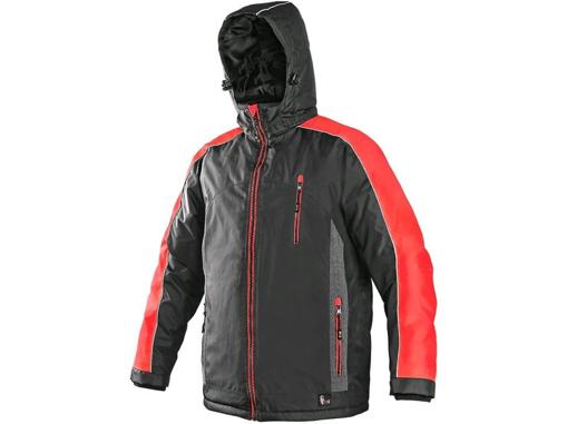 Obrázek z CXS BRIGHTON Pánská zimní bunda šedo-červená