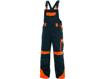 Obrázek z CXS SIRIUS BRIGHTON Pracovní kalhoty s laclem modro-oranžové