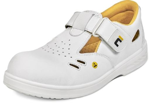 Obrázek z RAVEN ESD O1 SRC Pracovní sandále bílé