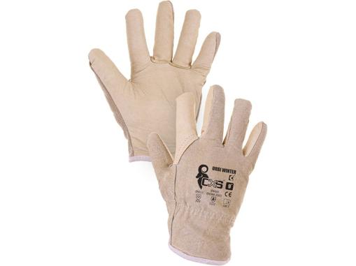 Obrázek z CXS URBI WINTER Pracovní celokožené rukavice zimní