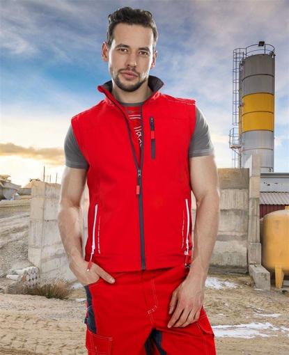 Obrázek z VISION Softshellová vesta červená