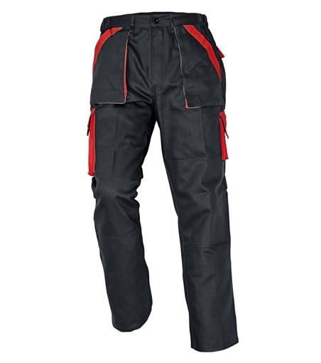 Obrázek z Červa MAX Pracovní kalhoty do pasu černo / červená