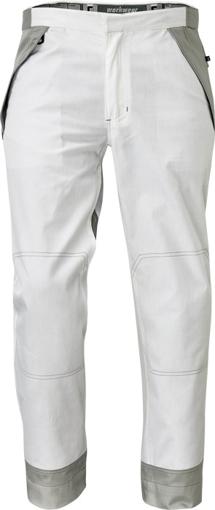 Obrázek z Červa MONTROSE Pracovní kalhoty do pasu bílé
