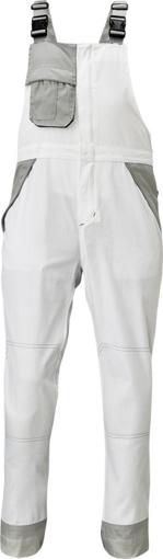 Obrázek z Červa MONTROSE Pracovní kalhoty s laclem bílé