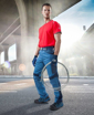 Obrázek z R8ED+ Pracovní kalhoty do pasu modré prodloužené