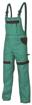 Obrázek z COOL TREND Pracovní kalhoty s laclem zelené prodloužené