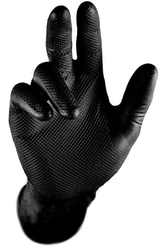 Obrázek z STRONG Hand GRIP 0422 Pracovní jednorázové rukavice černé
