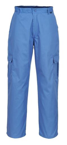 Obrázek z Portwest AS11 Antistatické ESD kalhoty do pasu modré