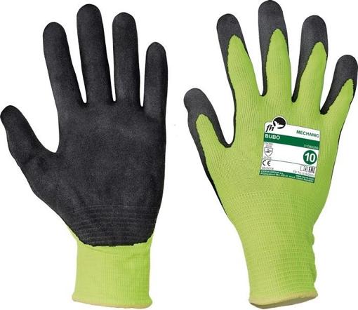 Obrázek z Free Hand BUBO žlutá-černá Pracovní rukavice