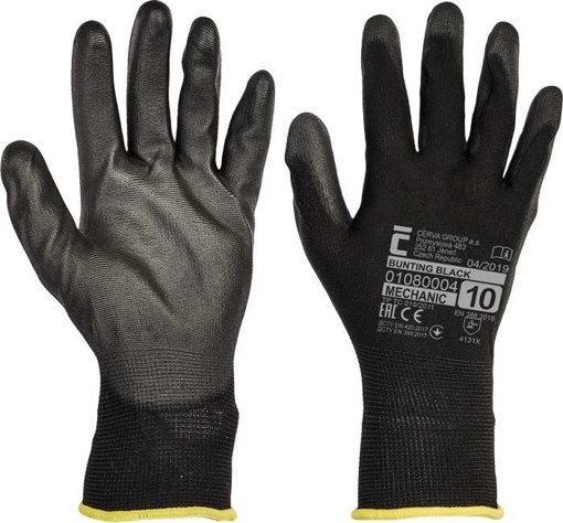 Obrázek z Červa BUNTING BLACK Pracovní rukavice - 240 Párů