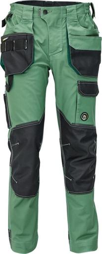 Obrázek z Červa DAYBORO Pracovní kalhoty do pasu mechově zelená / černá