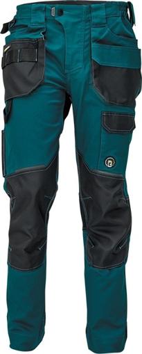 Obrázek z Červa DAYBORO Pracovní kalhoty do pasu petrolejová / černá