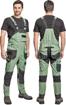 Obrázek z Červa DAYBORO Pracovní kalhoty s laclem mechově zelená / černá