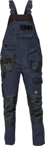 Obrázek z Červa DAYBORO Pracovní kalhoty s laclem tm. modrá / černá