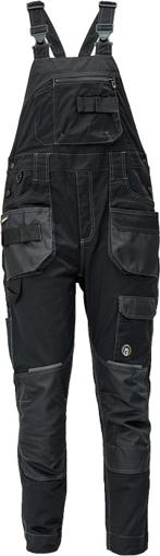 Obrázek z Červa DAYBORO Pracovní kalhoty s laclem černá / antracit