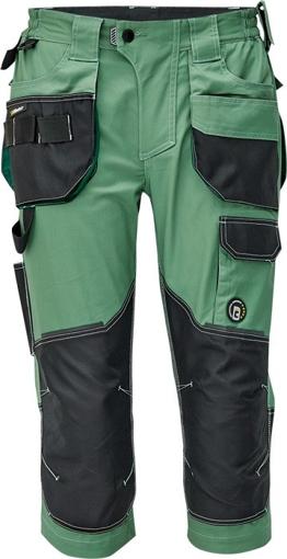 Obrázek z Červa DAYBORO Pracovní 3/4 kalhoty mechově zelená / černá
