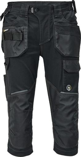 Obrázek z Červa DAYBORO Pracovní 3/4 kalhoty černá / antracit