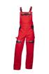 Obrázek z COOL TREND Pracovní kalhoty s laclem červené prodloužené
