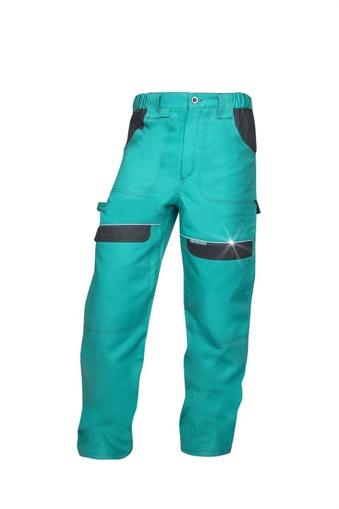 Obrázek z COOL TREND Pracovní kalhoty do pasu zelené prodloužené