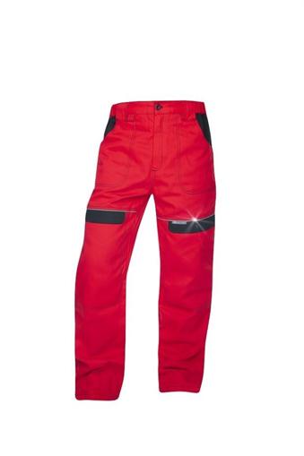 Obrázek z COOL TREND Pracovní kalhoty do pasu červené prodloužené