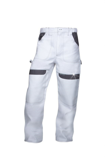 Obrázek z COOL TREND Pracovní kalhoty do pasu bílo-šedé