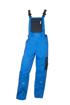 Obrázek z 4TECH Pracovní kalhoty s laclem modré prodloužené