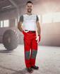 Obrázek z 2STRONG Pracovní kalhoty do pasu červené